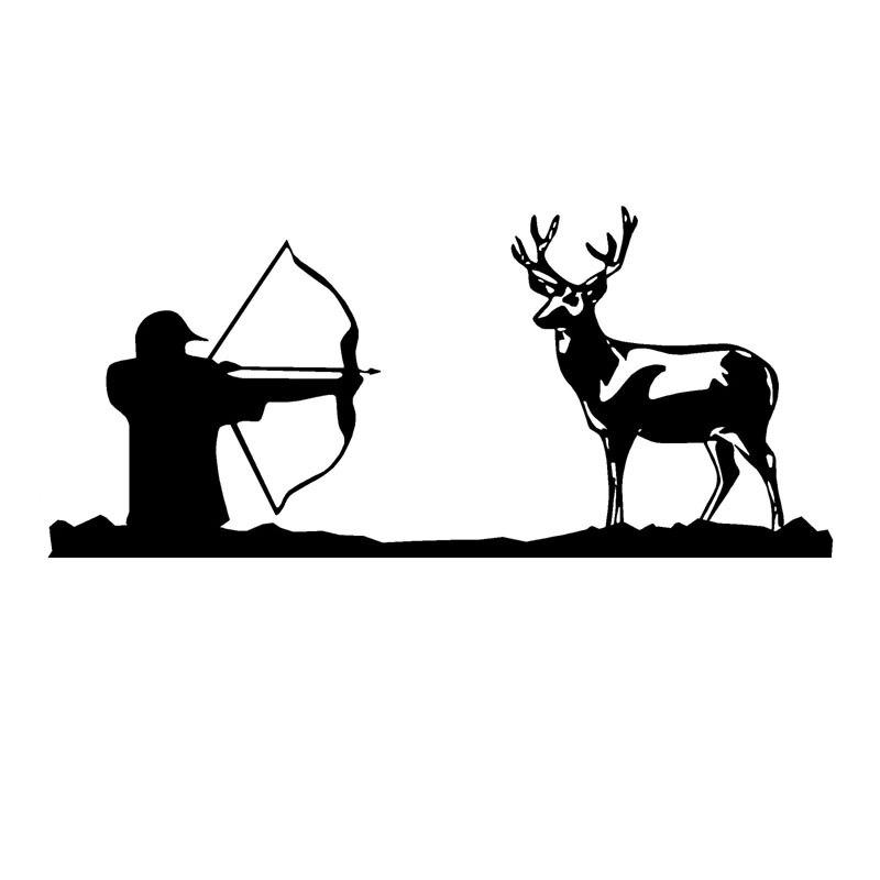 17.3CM*7.8CM Bow Hunter Decal Deer Hunting Vinyl Car Sticker S9-0092