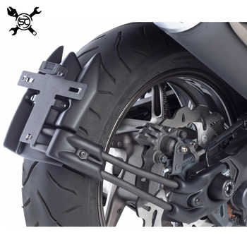 Free Shiping Motocycle License Plate Support Rear Mudguard Fits For Yamaha T-MAX 530 TMAX530 2012 2013 2014 2015 2016 2017 - DISCOUNT ITEM  0% OFF All Category