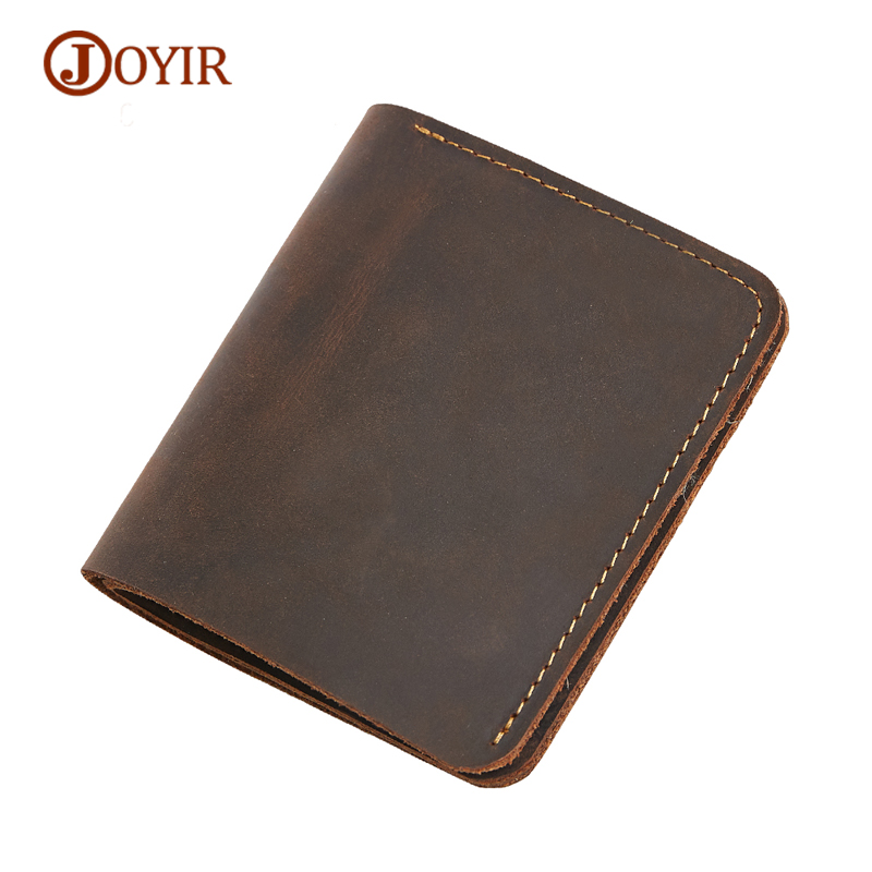 JOYIR Wallet Men Genuine Leather Card Holder Fashion Short Silm Men Mallets Male Wallet Men's Purse Coin Purse Holders Money Bag fashion genuine leather men wallets small zipper men wallet male short coin purse high quality brand casual card holder bag