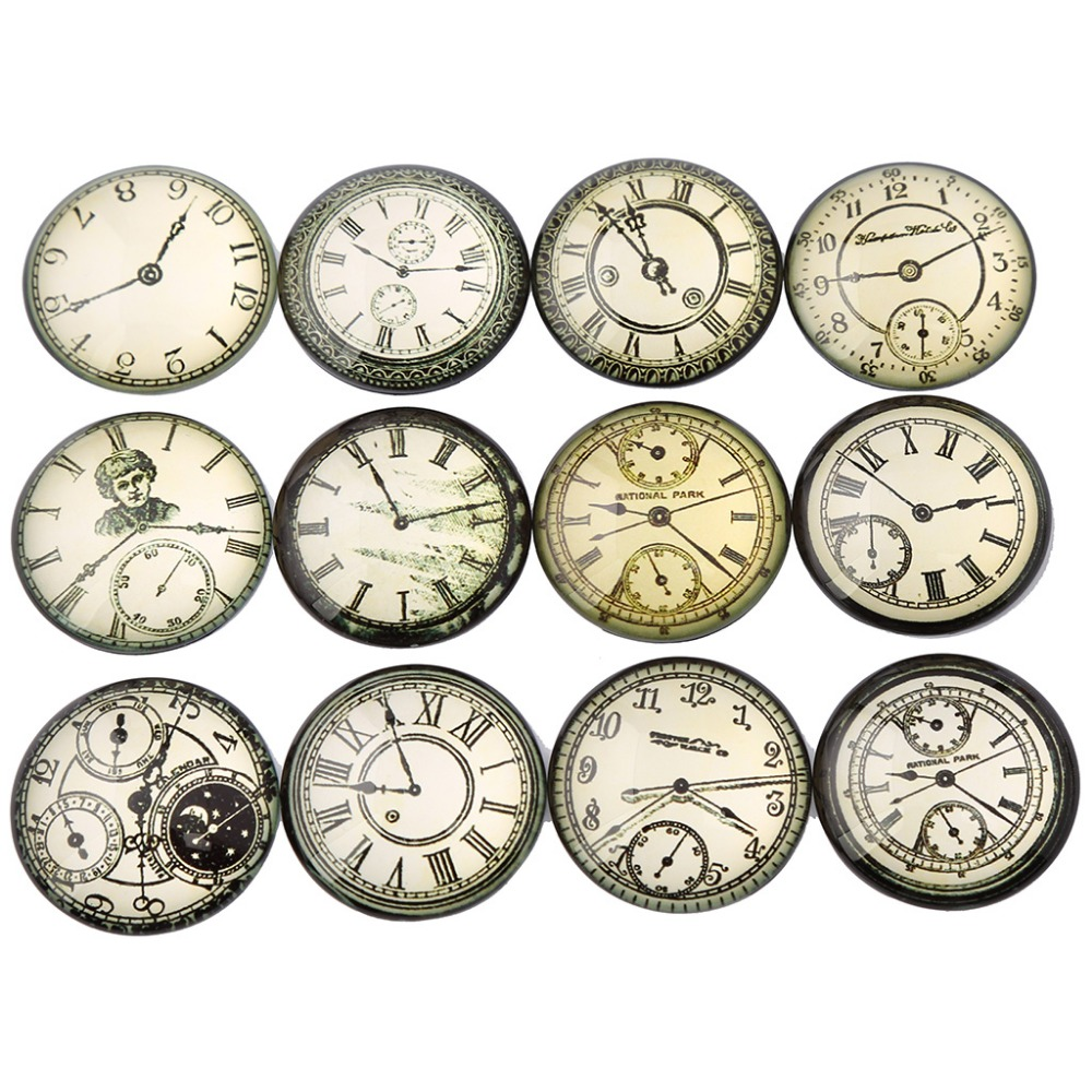 shukaki mix vintage clock photo round glass cabochon 30mm 14mm 25mm 20mm 12mm diy jewelry findings for pendant necklaceshukaki mix vintage clock photo round glass cabochon 30mm 14mm 25mm 20mm 12mm diy jewelry findings for pendant necklace