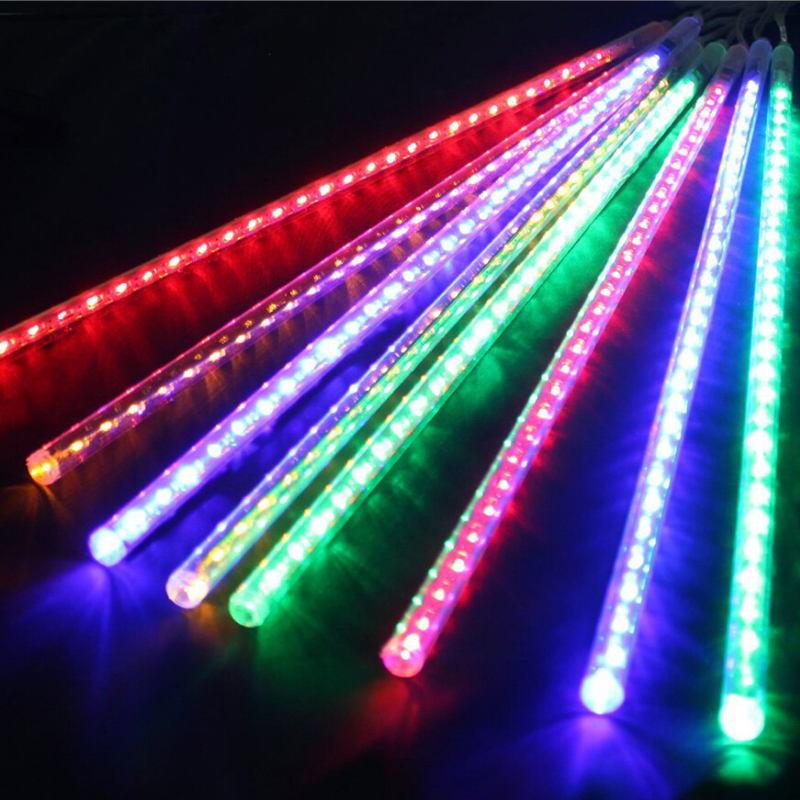Outdoor 30CM Meteor Shower 110V-220V color British Standard Rain Tubes LED Christmas Lights Wedding Party Garden String Light
