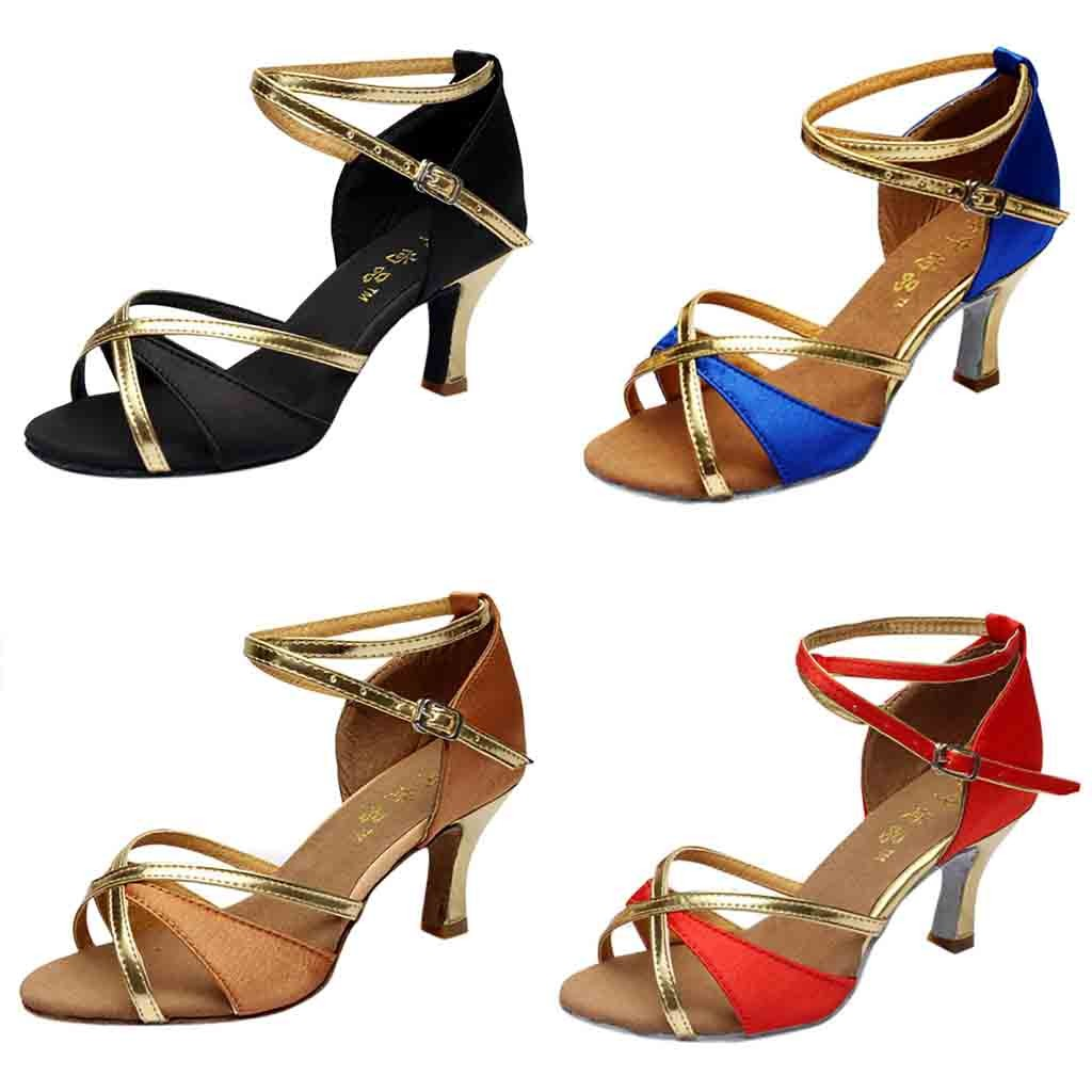 Shoes Woman Sandals High Heel Dance Shoes For Women Blue Gladiator Sandals Women Zapatos De Mujer Fiesta Red#G68