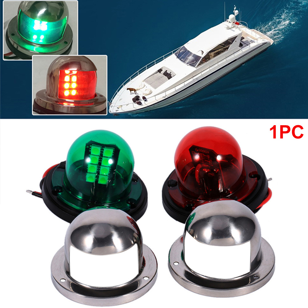 Stainless Steel 12V LED Marine boat Yacht Light Bow Navigation Light Deck Mount