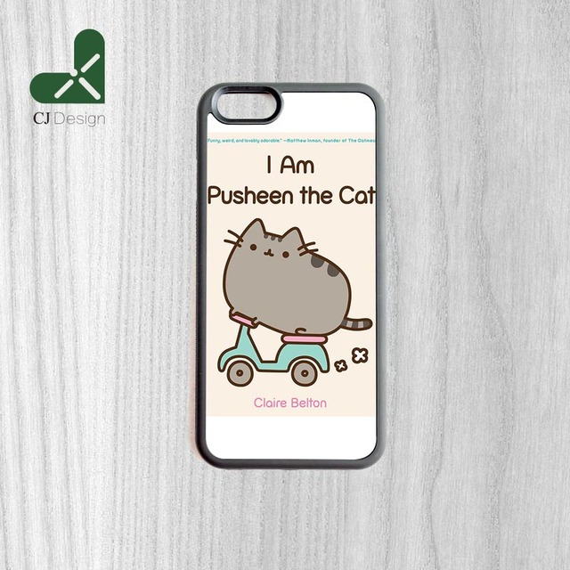 Carino pusheen cat sfondo modello di lusso tpu della copertura posteriore per iphone 6 6s e 6 6 s plus telefono case