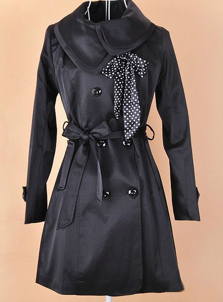 New Fashion Womens Slim Double Breasted Dust Coat Double Collar Trench Overcoat Long windbreak Outerwear Clothes