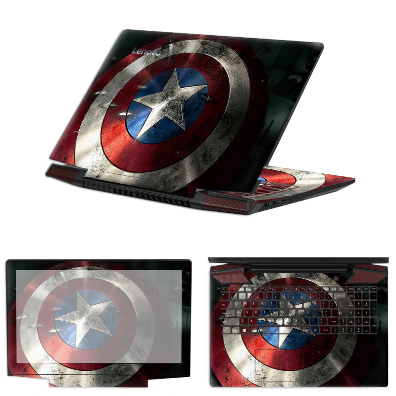 Sticker Attached To Laptop Boy's Gift Cool Superhero Iron Man Notebook Keyboard Film Screen Border Sticker For MacBook HP Dell13