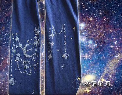 """Японский для девочек в стиле """"Лолита"""" Сейлор Мун звезд сладкий Мори колготки для девочек падения Galaxy с узором в стиле """"Лолита"""" колготки Для женщин обтягивающие 3 цвета - Цвет: Navy blue"""