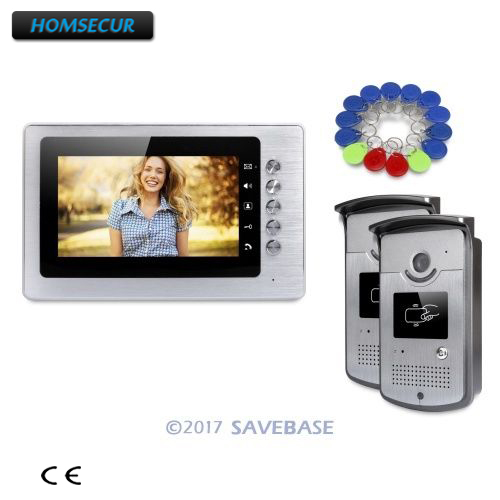 HOMSECUR 7inch Wired Video Door Entry Security Intercom With Mute Mode For Home Security