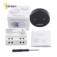 US CA Digital RF Wireless Light Switch ON OFF Smart Home Switch Durable Remote Control Switch