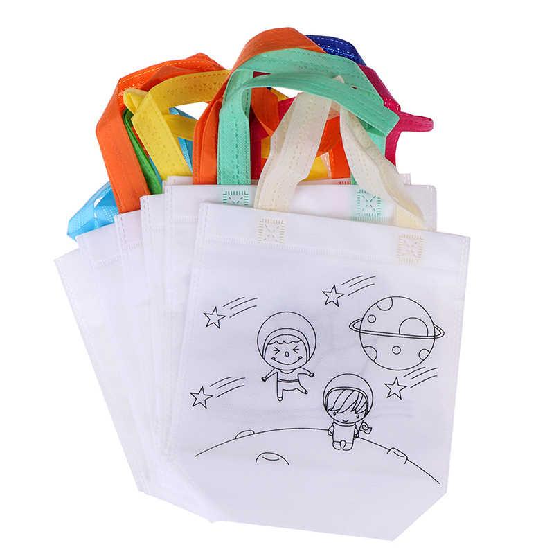 Puzzle Giocattolo Educativo per I Bambini FAI DA TE di Protezione Ambientale Graffiti Scuola Materna Del Sacchetto di Pittura A Mano Materiali