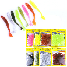 Vissen Fishing Lure Spiral T Fish Soft Bait Softbaits Artificial Fake Lure 4.5cm 50pcs/Bag Bass Baits Swimbait Fishing Gear