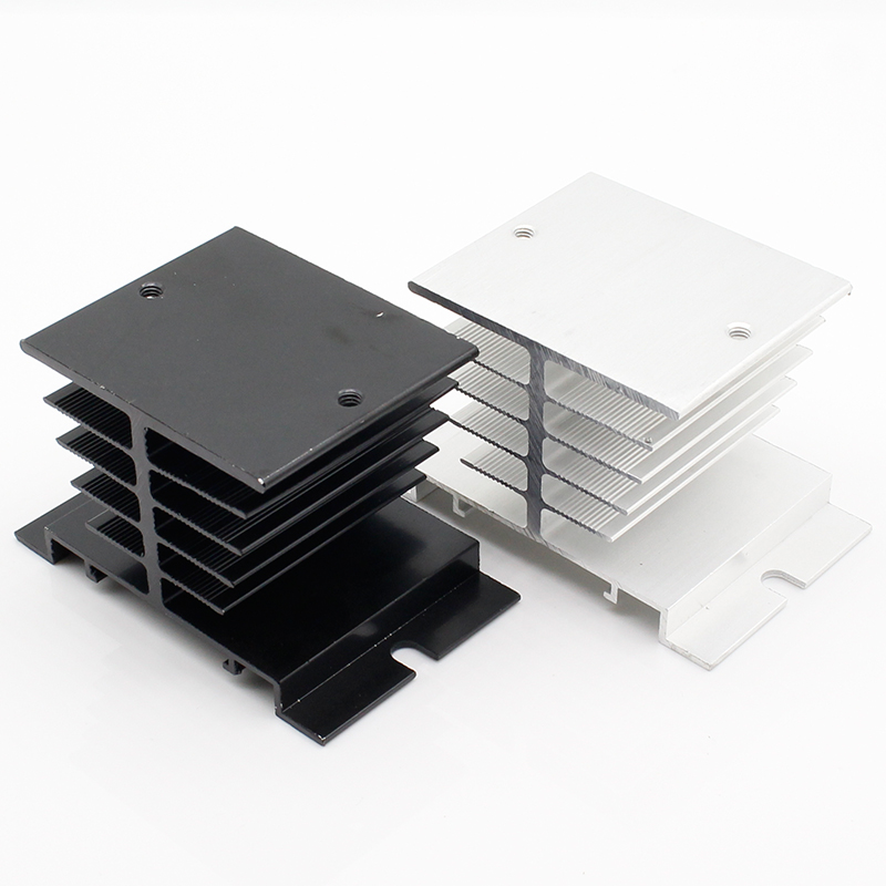 1pc Single Phase Solid State Relay SSR Aluminum Heat Sink Dissipation Radiator Newest,Suitable for 10A-40A relay