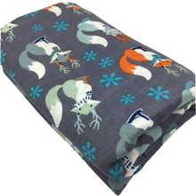 Cute Animals Patterned Breathable Bamboo Fiber Swaddle Blanket
