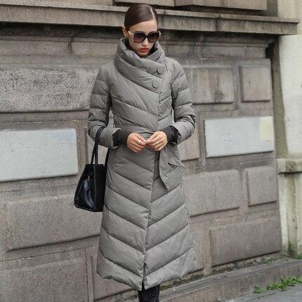 Chaqueta de invierno de las mujeres con capucha Abrigos blanco largo Abrigos  de plumas Parkas para las mujeres elegante grueso capullo Abrigos abrigo ... 4a59b654b35f
