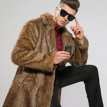 Autumn faux mink leather jacket mens winter thicken warm fur leather coat men slim jackets jaqueta de couro big fur collar