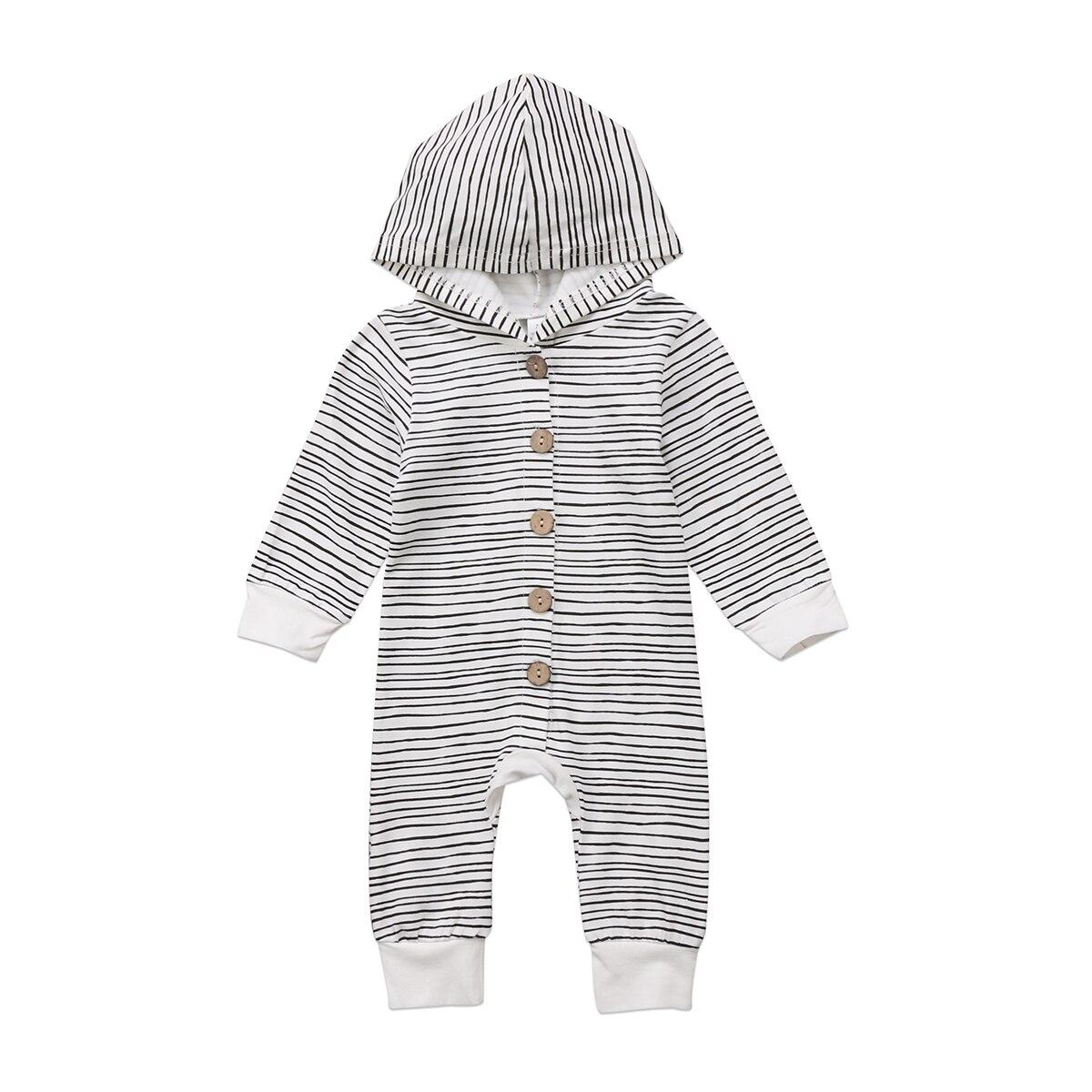 HTB1jI53ehPI8KJjSspfq6ACFXXap 2018 Brand New Toddler Newborn Baby Boy Girl Warm Infant Romper Striped Jumpsuit Hooded Clothes Long Sleeve Outfit