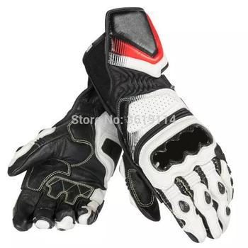 Envío gratuito nuevo Dain de D1 Pro negro de cuero de la motocicleta de carreras de guantes de los hombres