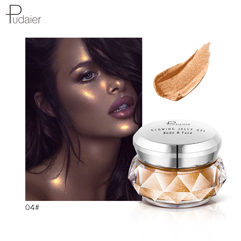 Beauty Essentials Steady Pudaierjelly Gel Jelly Face High Light Liquid Body Highlight Cream Mermaid Eye Shadow In Many Styles Beauty & Health