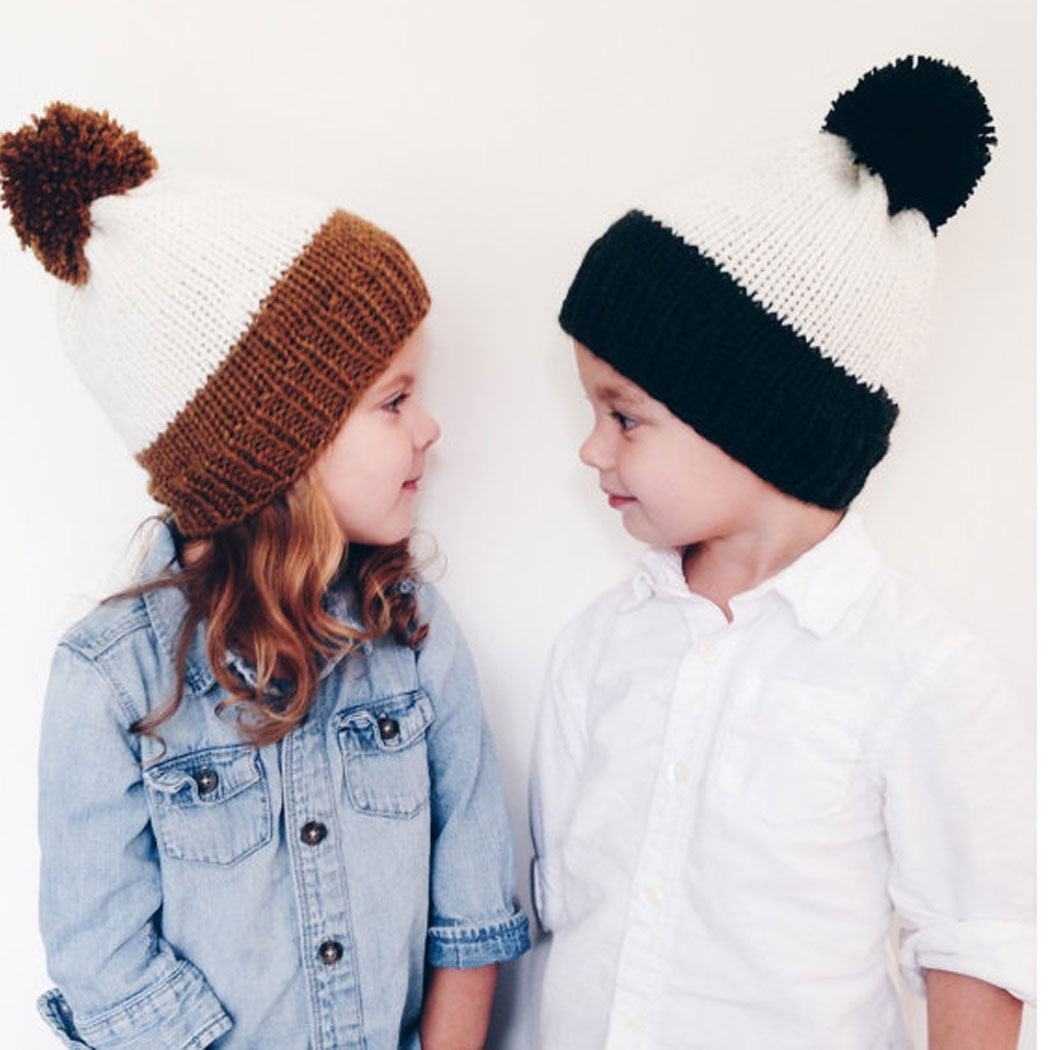 Mother And Baby Hat Real Raccoon Fur Pompom Beanie Cap Winter Warm Patchwork Boys Girls Kids Hats Fur Pom Poms Bonnet new star spring cotton baby hat for 6 months 2 years with fluffy raccoon fox fur pom poms touca kids caps for boys and girls
