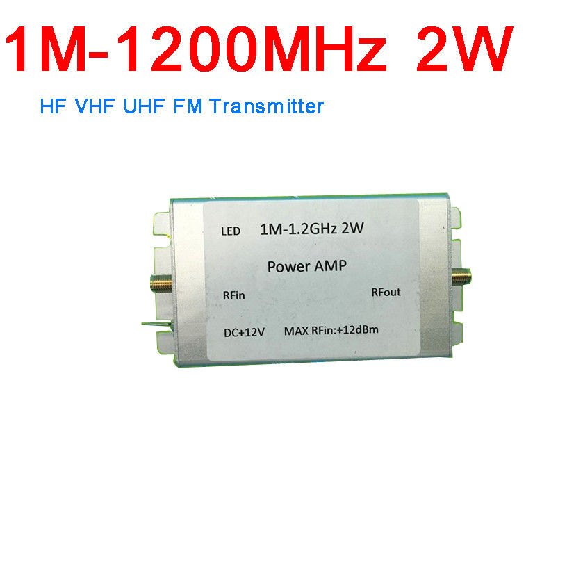 1M to 1200MHz 2W RF Power Amplifier FOR HF VHF UHF FM Transmitter Ham Radio