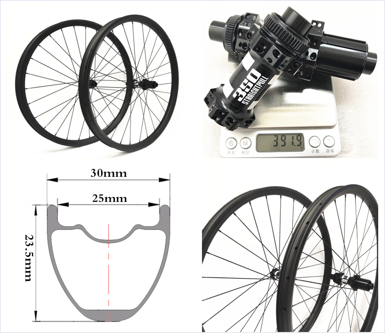 29er XC MTB Carbon Wheels Tubeless Rims 30mm Width For 29 Inch Mountain Bike Bicycle Wheelset Rims Bicycle Wheel Set