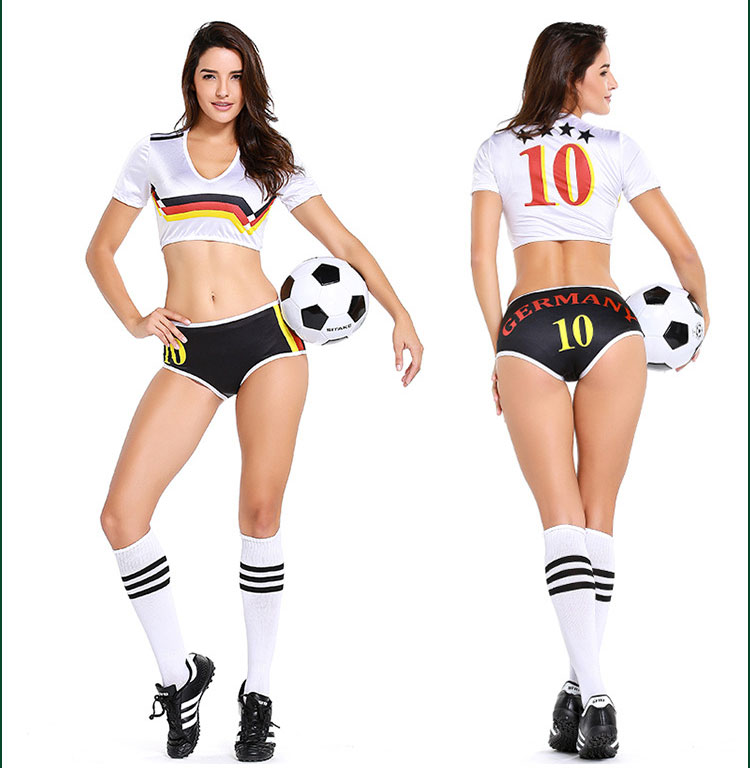 Aliexpress Com Buy G319 Soccer Shooting Custom: Sexy Lingerie Uniform Soccer Player Germany Cheerleader