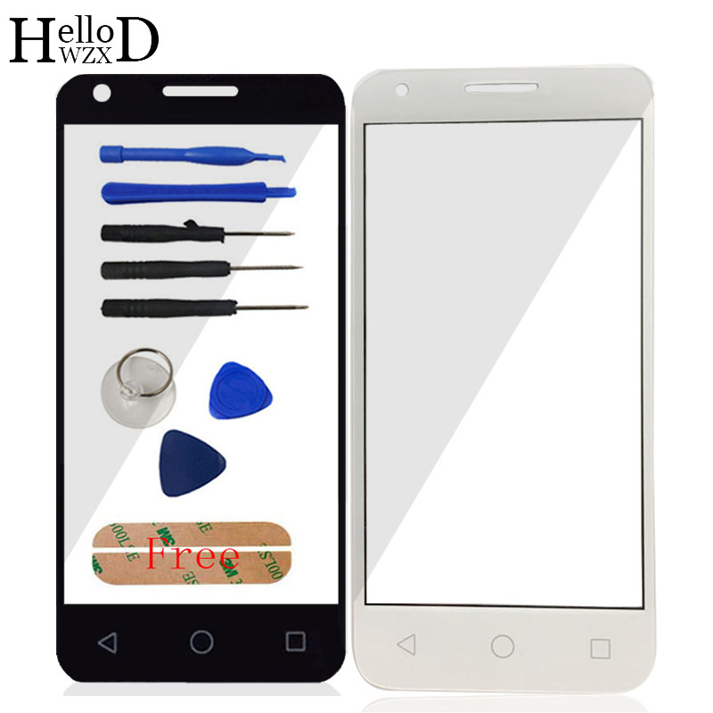 Front Outer Glass Touch Lens For Alcatel One Touch Pixi 3 4.5 <font><b>4027D</b></font> 4027X 5017 5017E OT4027 4027 VF795 Speed 6 Panel Adhesive image