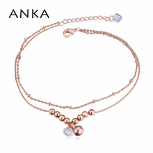 Barefoot Sandals Rushed Trendy Foot Bracelet Jewelry 2015 New Crystal ball Anklets Made With Swarovski Elements #115519