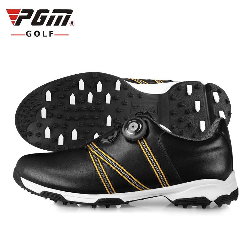 Golf Shoes Men Women genuuine leather  Pgm Golf Shoes Cowhide Anti-skid Groove Patent Breathable Microfiber Plus Waterproof pgm authentic golf shoes men waterproof anti skid high quality male sport sneakers breathable shoes