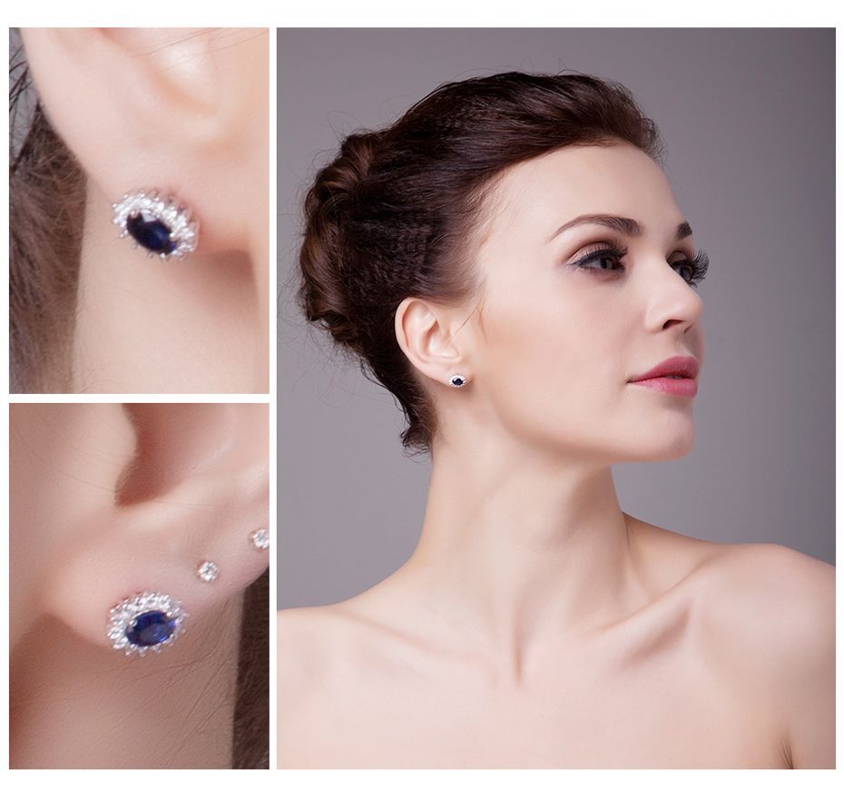 Aliexpress : Buy Jewelrypalace Princess Diana William Kate Middleton's  15ct Created Blue Sapphire Stud Earrings 925 Sterling Silver Stud Earring  From