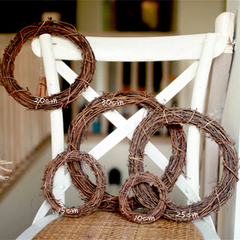 Natural Grapevine Wreath Star Heart Ring Shape Diy Crafts Base For