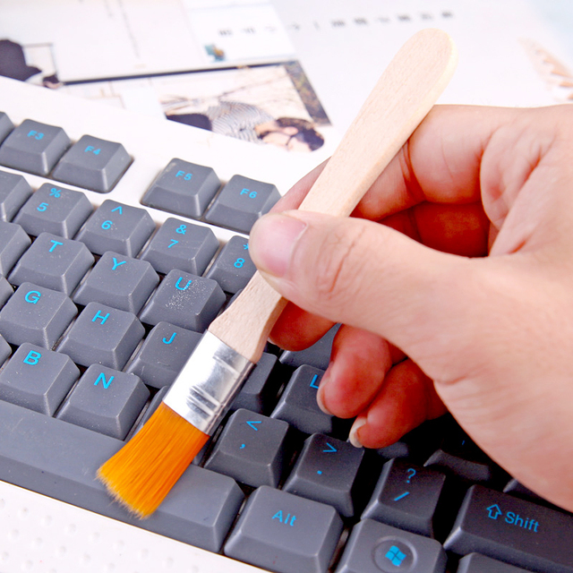 Мягкая щетка для волос, маленькая щетка для клавиатуры ноутбука, щетка для очистки экрана, щетка для очистки пыли