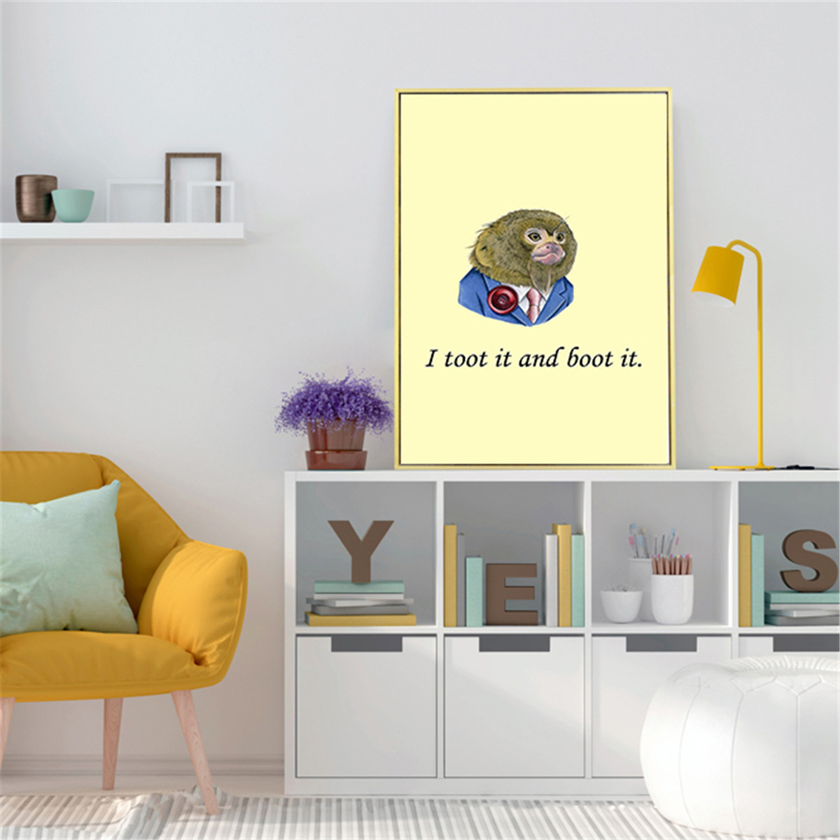 Cartoon Bear Lyric Letter Canvas Art Print Poster Wall Pictures For ...