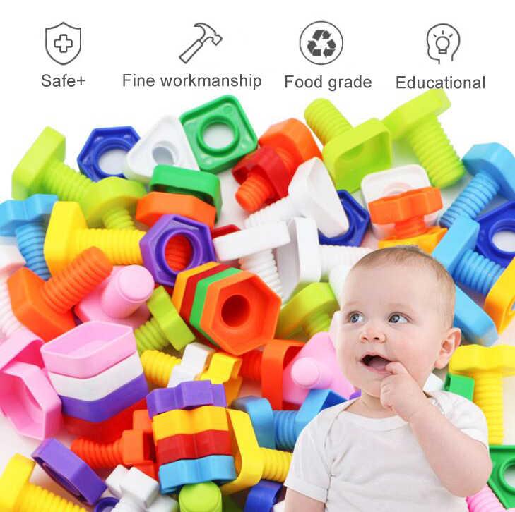 11Pcs Pembelajaran Montessori Pendidikan Matematika Mainan Smart Telur/Plastik Sekrup 3D Permainan Puzzle untuk Bayi Anak Mainan Pendidikan gyh