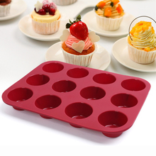Cup Silicone Muffin Pan &Cupcake Baking Pan Non-Stick Silicone Cake Mold Round Mini Muffin Pan Form(China)