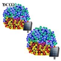Dcoo 8 Modes 72ft 22m 200 LEDs Solar LED String Lights Solar Fairy String Lights Outdoor