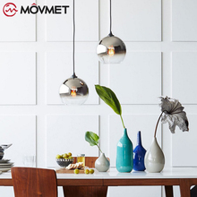 Modern style living room bedroom minimalist restaurant pendant light Nordic clothing decoration glass ball pendant lamp