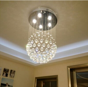 Modern crystal chandelier lights ac85 265v top crystal decorative modern crystal chandelier lights ac85 265v top crystal decorative led ceiling lamp for dininglivingroom crystal lamp in ceiling lights from lights aloadofball Choice Image