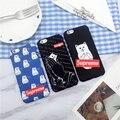 Nova moda dos desenhos animados elegante senhor nermal bolso cat rígido pc completo proteção case para iphone 7 6 s plus + esfriar tampa traseira Caso