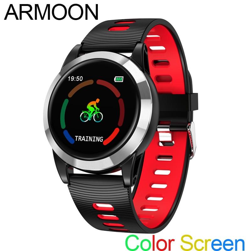 Astuto Della Vigilanza R15 Uomini Android IOS Smartband Frequenza Cardiaca Fitness Bracciale Sonno Monitor Inseguitore di Fitness Schermo a Colori Rotonda Wristband