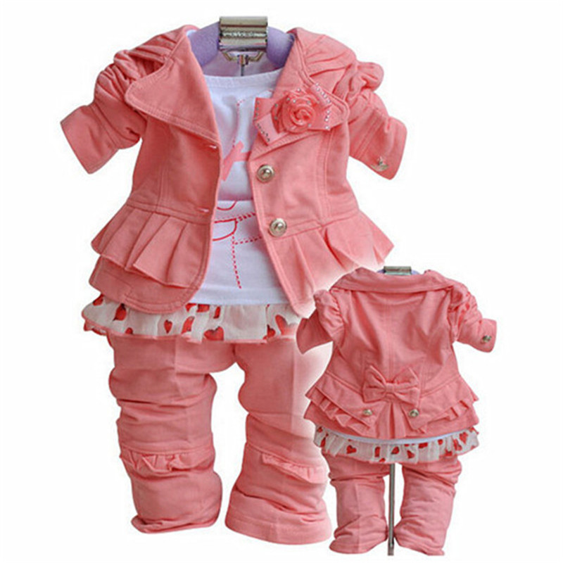 1-5 Year Girl Suit Coat Pants 2pcs Spring Autumn Baby Toddler Kids Clothes Cute Set Girls Infantil Children Clothing Casual Sets Perfect In Workmanship