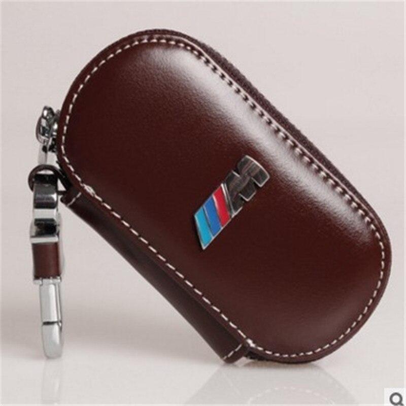 Clé de voiture en cuir cas couverture pour bmw M F10 F20 F16 F30 F06 X3 X4 X5 X6 116I 118I 120I M135 320I 328I 520I 530I Pour bmw clé anneau