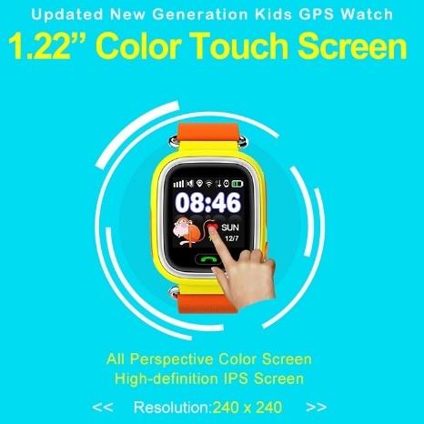 Posicionamento gps relógio q90 touch screen wi-fi smart watch crianças Chamada SOS Localizador Dispositivo Anti Perdido Lembrete PK Q60 Q80