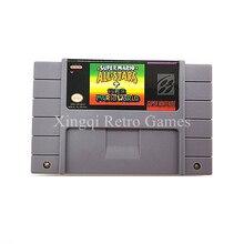 Super Nintendo SFC/SNES Super Mario Toutes Les Étoiles + Super Mario World Cartouche De Jeu Vidéo Console Carte Anglais NTSC NOUS Version