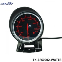 Tansky DF BF 60mm WATER TEMP GAUGE Black Bracket TK DF60002 Light Color White And Red