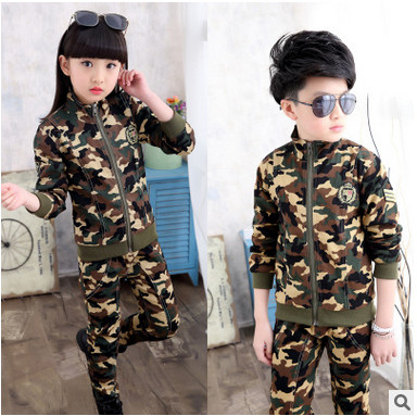 Children Clothing Sets For Boys and girls Camouflage Sports Suits Autumn Kids Tracksuits 2017 Teenage Boys Sportswear 2-12 Years kids tracksuit boys clothing 4 13t children s sports suits hooded children clothing suit for boys teenage girls clothing fashion