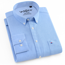 Mens Dress Shirts Long Sleeve Shirt Men  Plaid & Striped Oxford Casual Slim Fit Camisa Masculina