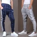 Novo 2016 masculino de três bar sweatpants pés calças calças haroun calça casual