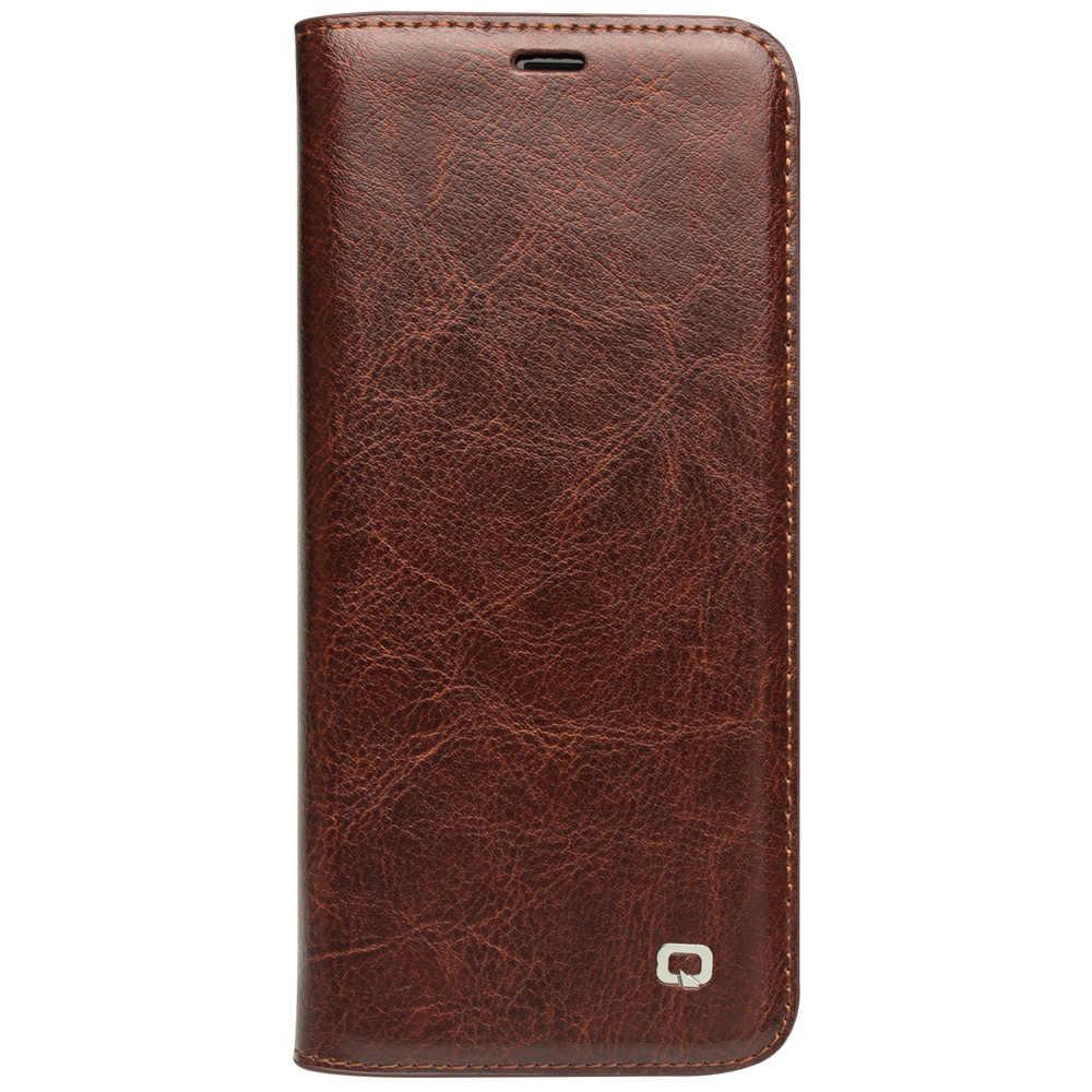 QIALINO Чехол-книжка из натуральной кожи для samsung Galaxy S9 и S9 Plus, Сумка с отделением для карт, Ультратонкий чехол для телефона для samsung S9 и S9 Plus