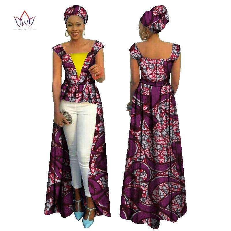 brw african print bazin riche dress for women vetements africain femme cotton casual office long. Black Bedroom Furniture Sets. Home Design Ideas